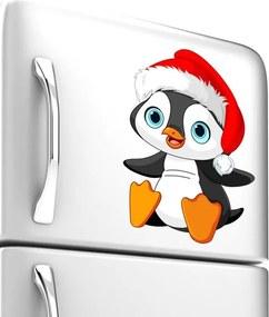 Adesivo Geladeira Pinguim Natal