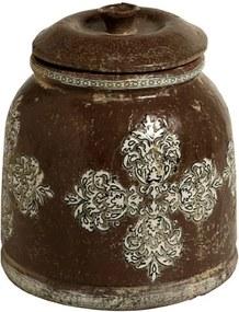 Pote de Cerâmica Marrom Seychelles