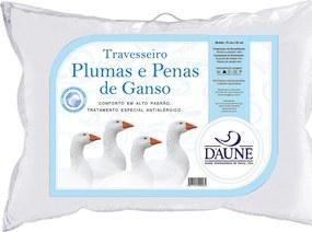 Travesseiro Daune 50x70cm 70 Plumas 30 Penas Branco