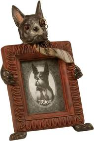 Porta-Retratos de Resina Decorativo Cachorro Aquiles