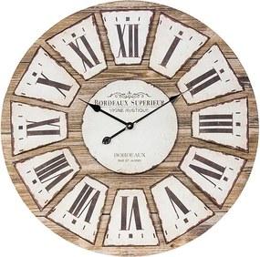Relógio Fundo Cor Madeira Bordeaux
