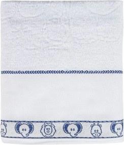 Toalha de Banho Baby Dreams para Bordar - Elefantinho Azul -  Döhler