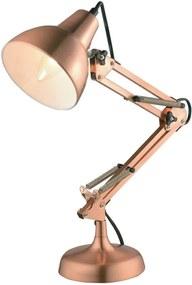 Luminaria De Mesa Metal Cobre Nexus