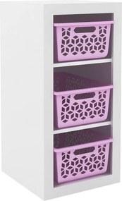 Armário Organizador OG2200 Branco/Rosa - Tecno Mobili