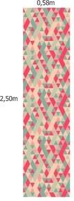 Papel De Parede Adesivo Geométrico Rosa (0,58m x 2,50m)