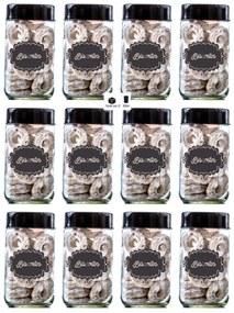 Potes 800ml Biscoitos Pacote 12 Unidades Preto - Black