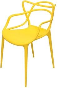Cadeira Orlando Polipropileno Amarela