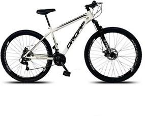 Bicicleta Dropp Aro 29 em AÇO Câmbio Shimano 21 Velocidade Freio a Disco com Suspensão