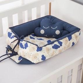 Ninho Redutor de Berço Dôda Baby Nuvem Azul Marinho 2 Peças
