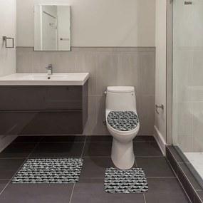 Jogo de Banheiro Ornamental PretoÚnico