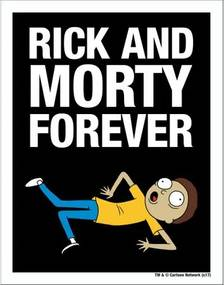 Placa Rick And Morty Forever