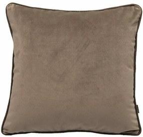 Almofada Veludo Com Debrum De  Couro Marrom 50x50 cm - Velvet