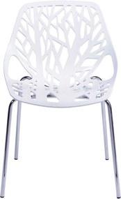 Cadeira de jantar folha Branco OR Design