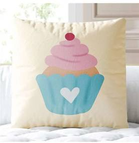 Almofada Quadrada Cupcake Docinho Grão de Gente Ro