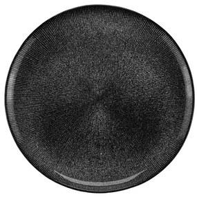 Prato Sobremesa Cristal Dots Preto 21cm 27769 Wolff