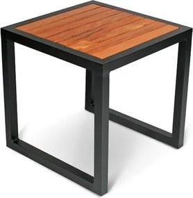 Mesa Lateral Adela em Alumínio e Tampo Deck Peróba