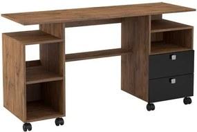Mesa para Computador Magno cor Nobre com Preto Brilho - 20690 Sun House