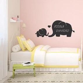 Adesivo Decorativo Elefante Mae E Filho Lousa Medidas 1,43X0,59