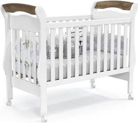 Berço Americano Mini-Cama 100% MDF Bambini Branco Soft/Teka - Matic