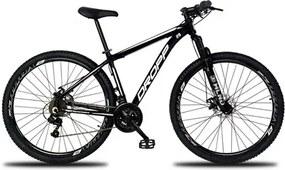 Bicicleta Aro 29 Quadro 17 Alumínio 21 Marchas Freio a Disco Mecânico Color Preto/Branco - Dropp