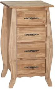 Mesa de Cabeceira Rústica 4 Gavetas Arroio - Wood Prime Biomóvel 1028568