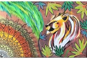 Pintura em Tela Leão e Mandala | Isis