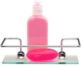 Prateleira com Porta Shampoo Jackwal Cromado 20x10cm