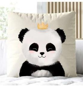Almofada Quadrada Panda Príncipe Grão de Gente Pre