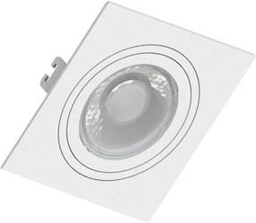 Embutido Dicroica Quadrado Face Plana Direcional Branco GU10 - Save Energy - SE-330.1031