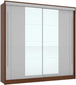 Guarda-Roupa Riviera Com Espelho Ipê/Off White – Mirarack