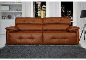 Sofá de Couro Boreal Retrátil e Reclinável Mempra Estofados - 2,20m