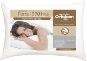 Travesseiro 200 Fios Céu Noturno Branco Leve Casa Dona