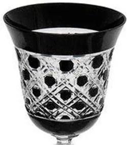 Taça de Cristal Polonês Preto para Vinho - 170ml
