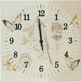 Relógio de Parede Pássaro Azul em Madeira MDF - 30 cm
