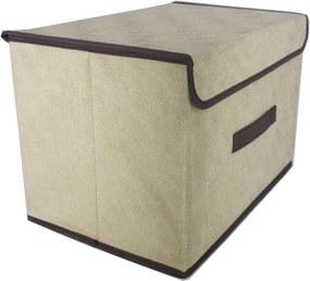 Caixa Organizadora Dobrável Multiuso Marfim 37,5x24,5x23,5cm