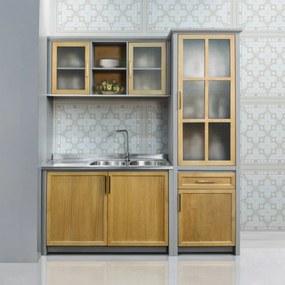 Cozinha Caliteia Modulada Compacta C/03 Peças em Madeira Maciça