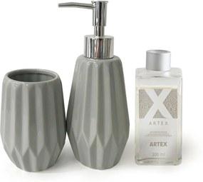 Kit Banheiro em Porcelana Multi Mix + Difusor de Aromas Artex