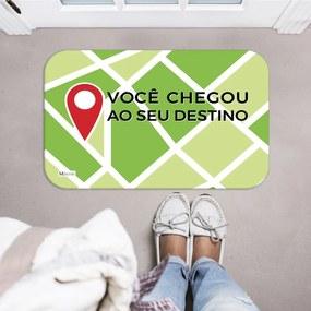 Tapete Decorativo Mapa Localização Frase Verde40x60cm