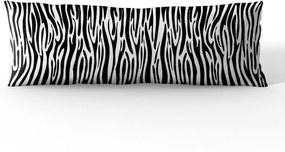 Almofada Gigante Mdecore 130x46cm Animal Print Zebra