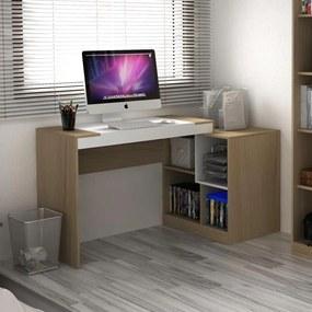 Escrivaninha 2 em 1 Avelã Tx/Branco Tx - Hecol