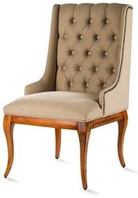 Cadeira Casual Capitonê Madeira Maciça Design Clássico Avi Móveis