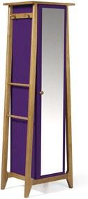 Armário Multiuso 1 Porta Stoka 981 Nogal/Roxo - Maxima