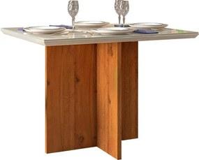 Mesa de Jantar Aura para 4 Cadeiras 108cm Rústico Terrara Off White