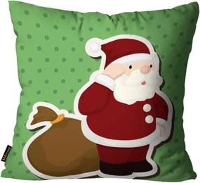 Almofada Mdecore Natal Papai Noel Verde 45x45cm