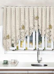 Cortina Cascata para Cozinha Bege 300x100 cm