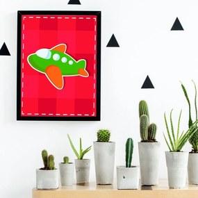 Quadro Decorativo Infantil Avianzinho Preto - 20x30cm