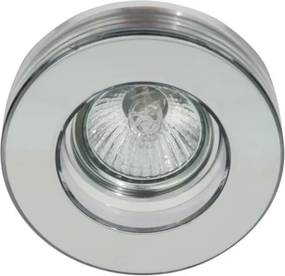 Plafon Embutir Vidro Aco Cromado Shine