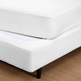 Capa DOURADOS ENXOVAIS  p/ Box Fit Box Branco Solteiro - Malha 100% Algodão