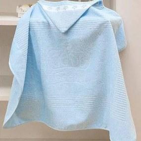 Enxovais Banho Infantil Toalha Banho Dohler -Aveludada c/ Capuz Azul