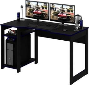 Mesa Gamer Reversível ME4152 Preto e Azul - Tecno Mobili.